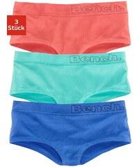 Große Größen: Bench Baumwoll- Panties (3 Stück) mit trendigem Bündchen, »Cotton made in Africa«, 3x uni bunt, Gr.32/34-44/46