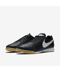 Sálovky Nike Tiempo Genio II IC (kůže) 41 ČERNÁ - BÍLÁ