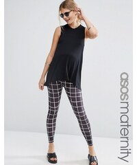 ASOS Maternity - Leggings épurés à carreaux - Multi