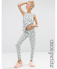 ASOS PETITE - Pretzel - Pyjamaset mit Trägerhemd und Leggings - Mehrfarbig