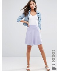 ASOS TALL - Jupe patineuse à poches - Violet
