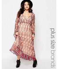 Diya Plus - Robe longue à imprimé cachemire - Multi