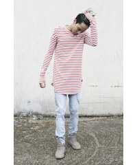 Sixth June Tričko Breton Stripe Oversized White Red
