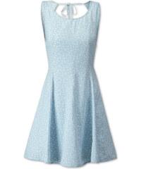 C&A Kleid mit Blumenmuster in weiß / Blau