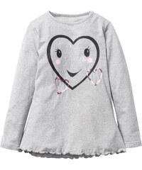 bpc bonprix collection T-shirt à manches longues avec imprimé, T. 116/122-164/170 gris enfant - bonprix