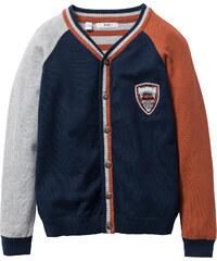 bpc bonprix collection Cardigan en maille color block, T. 116/122-164/170 bleu manches longues enfant - bonprix
