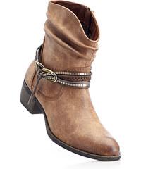 bpc bonprix collection Bottines marron avec 4 cm talon carréchaussures & accessoires - bonprix