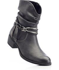 bpc bonprix collection Bottines gris avec 4 cm talon carréchaussures & accessoires - bonprix