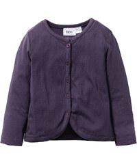 bpc bonprix collection Gilet matière T-shirt, T. 80/86-128/134 violet manches longues enfant - bonprix