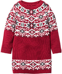 bpc bonprix collection Robe en maille, T. 80-134 rouge manches longues enfant - bonprix