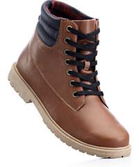 John Baner JEANSWEAR Boots montantes marron avec 2 cm platchaussures & accessoires - bonprix