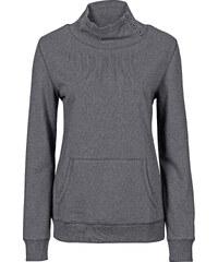 John Baner JEANSWEAR Sweatshirt mit Stehkragen langarm in grau für Damen von bonprix