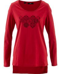 bpc bonprix collection Flammgarn-Shirt, Langarm in rot für Damen von bonprix