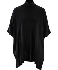 bpc bonprix collection Strick-Poncho 7/8 Arm in schwarz für Damen von bonprix