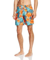 Miami Beach Swimwear Herren Badeshorts Flower