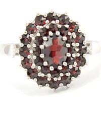 Granát, d.u.v., Turnov Český granát - prsten - stříbro 925/1000 - 120001450 58