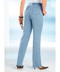 Große Größen: Classic Basics Jeans mit Glitzersteinchen in Wellenform, blue-bleached, Gr.38-56