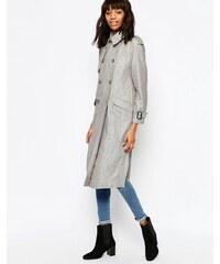ASOS - Trench-coat en lin - Gris