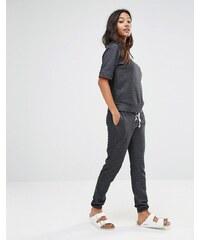Glamorous - Pantalon de survêtement skinny avec laçage - Noir