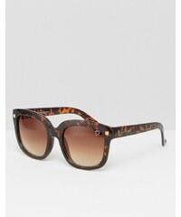 Ruby Rocks - Sonnenbrille mit eckigem Rahmen in Schildpattoptik - Mehrfarbig