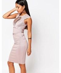 WOW Couture - Bahnenkleid mit Einsätzen - Rosa