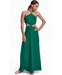 H&M Dlouhé šifonové šaty