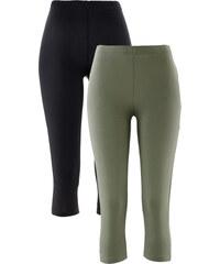 bpc bonprix collection Lot de 2 leggings corsaire extensibles vert femme - bonprix