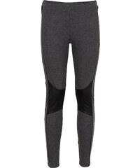 BODYFLIRT Leggings mit PU-Einsatz in grau für Damen von bonprix