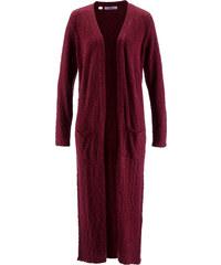 bpc bonprix collection Maxi-Strickjacke mit langen Ärmeln langarm in rot für Damen von bonprix