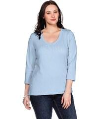 Große Größen: sheego Casual BASIC Shirt mit 3/4-Arm, hellblau, Gr.40/42-56/58