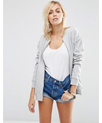 ASOS - The Ultimate - Bomber en jersey - Gris