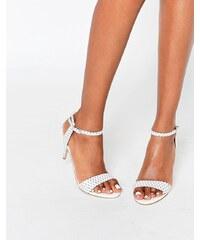 Carvela - Kollude - Weiße Sandalen mit Kittenabsatz - Weiß