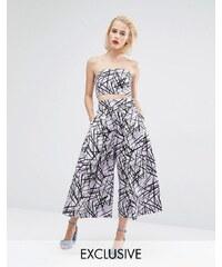 Horrockses - Jupe-culotte coordonnée à imprimé zigzag - Violet
