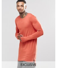 Underated - T-shirt ultra long à manches longues - Fauve