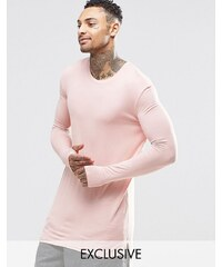 Underated - T-shirt ultra long à manches longues - Rose