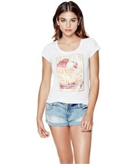 GUESS GUESS Xabrina Beach Festival Tee - true white