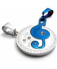Impress Jewelry Ocelové přívěsky pro dvojici se zirkony Hudební noty
