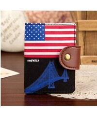 Lifestyle koženkové pouzdro na doklady a vizitky - America
