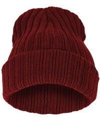 Cixi Červená čepice Beanie s pruhy
