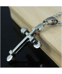 Impress Jewelry Přívěsek z chirurgické oceli kříž zirkon