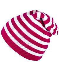Cixi Růžová pruhovaná čepice Beanie