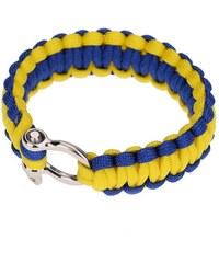 Lodestar Survival náramek -pletený žluto-modrý