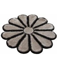 Bruno Banani Hochflor-Teppich rund Karja Höhe 35 mm handgetuftet schwarz 10 (Ø 190 cm),9 (Ø 140 cm)