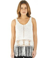Fluid Damen Top Ecru