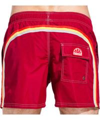 SUNDEK elastic waist mid-length board shorts