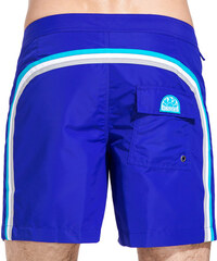 SUNDEK fixed waistband long swim shorts