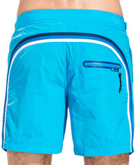 SUNDEK long swim shorts with side buttons