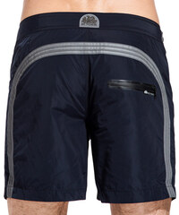 SUNDEK mid-length swim shorts with button closure and waterproof pocket