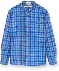 MANGO KIDS Hemd Aus Baumwoll-/Leinengemisch