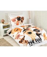 Detexpol povlečení bavlna The Dog 140x200 70x80